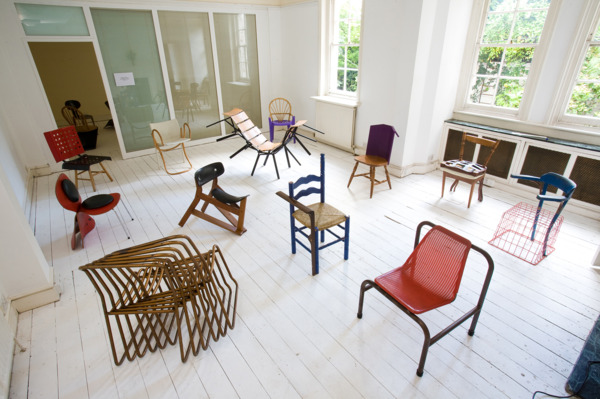 Installation view 'A 100 chairs in 100 Days', 5 Cromwell Place, London, 2007