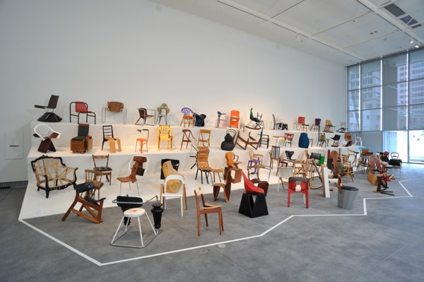 Installation view of 100 Chairs at 'Techno CRAFT', Yerba Buena Center for the Arts, San Francisco, 2010