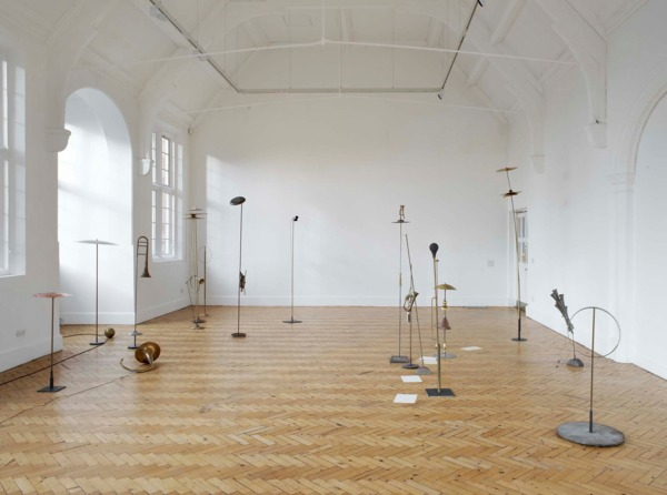 Katja Strunz, Sound of the Pregeomatic Age, 2009, Mixed media and sound, Dimensions variable, Installation view, 'Sound of the Pregeometric Age', Camden Arts Centre, London, 2009