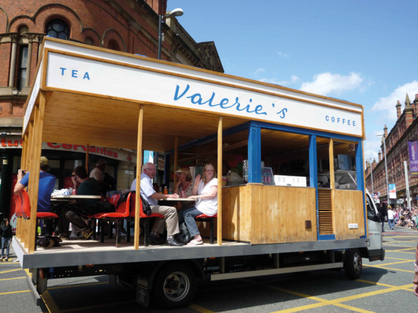 From Procession, 2009. Valerie's Snack Bar installed on the back of a lorry.
