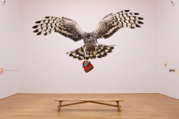Jeremy Deller, A good day for cyclists, 2013, Wall painting by Sarah Tynan, 400 x 700 cm