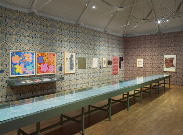 Installation view, 'Love is Enough: William Morris and Andy Warhol', Modern Art, Oxford, 2014