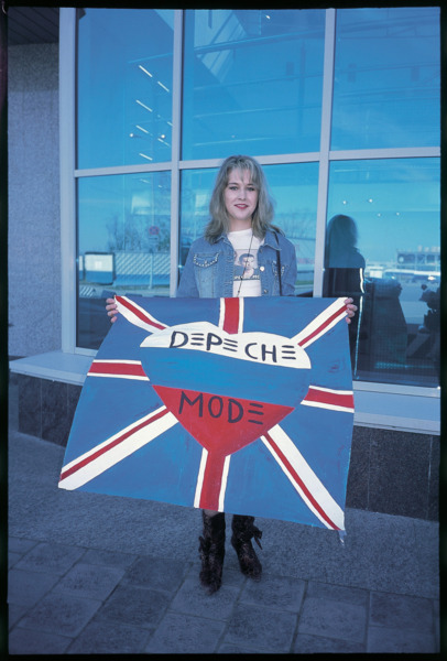 Our Hobby is Depeche Mode, 2006. Masha at St Petersburg Airport.
