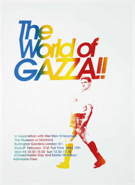 Jeremy Deller, The World of Gazza, 1995, Silkscreen on paper, 70 x 50 cm, Edition of 3