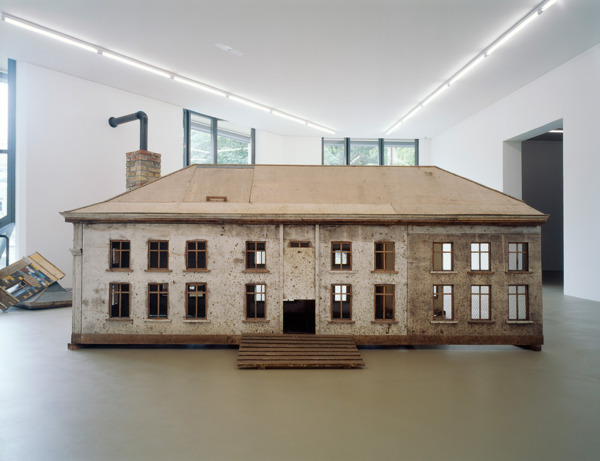 Simon Starling, Burn Time, 2000, Hen house, brick stove, eggs, egg cookers, cooking pot, saw, tarpaulin, Dimensions Variable