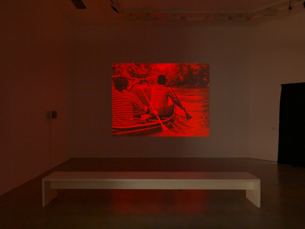 Simon  Starling, Red Rivers (In Search of the Elusive Okapi), 2009, HD video, HD projector, media player, speakers, Duration: 24.12 min, Edition of 5