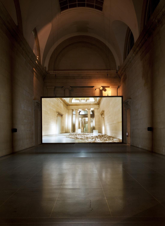 Simon Starling, Phantom Ride, 2013, HD video projection (loop), Duration 7 mins 20 sec, Installation view 'Phantom Ride', Duveen Galleries, Tate Britain, London, 2013