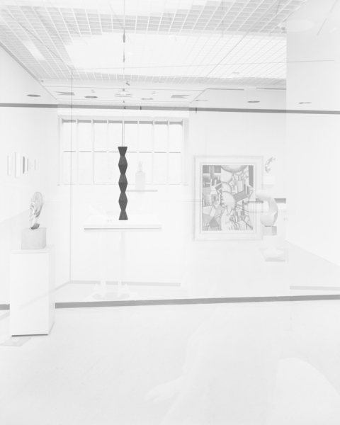 Simon Starling, Pictures for an Exhibition, 2013-2014, #19 Constantin Brancusi, Mademoiselle Pogany II (1920), Endless Column (1918), Princess X (1915) (from left to right).