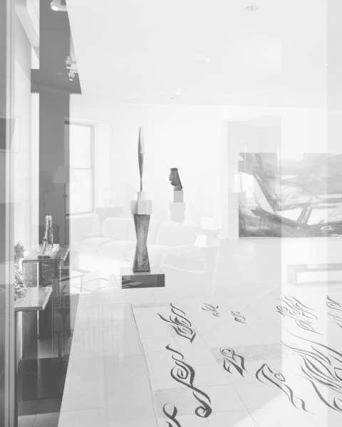 Simon Starling, Pictures for an Exhibition, 2013-2014, #27 Constantin Brancusi, Bird in Space (1926) and The Chief (1924-25) (left to right).
