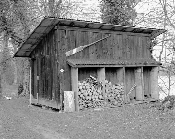 Simon Starling, Shedboatshed (Mobile Architecture No. 2), 2005 (production still), Wooden shed, 390 x 600 x 340 cm