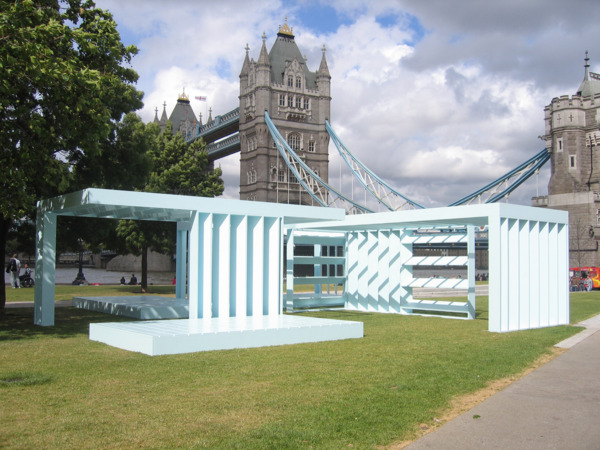 Powder Blue Orthogonal Pavilion