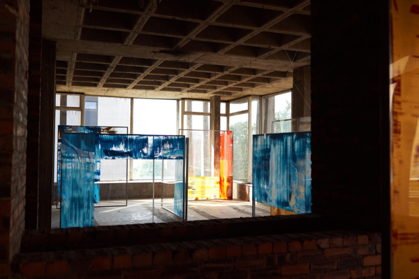 Installation view '20th Century Perspectives: City Spaces & Strings', Anderston Centre, Glasgow, 2014