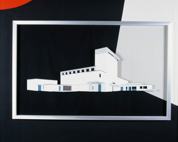 Toby Paterson, Brutalist Church, 2005, Acrylic on perspex, 120x170x5 cm
