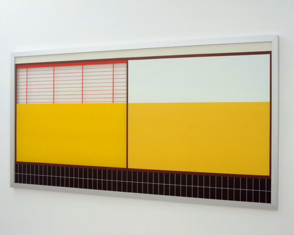 Toby Paterson, Quotidian Painting (Yellow), 2007, Acrylic and perspex, 206 x 106 x 3.5 cm