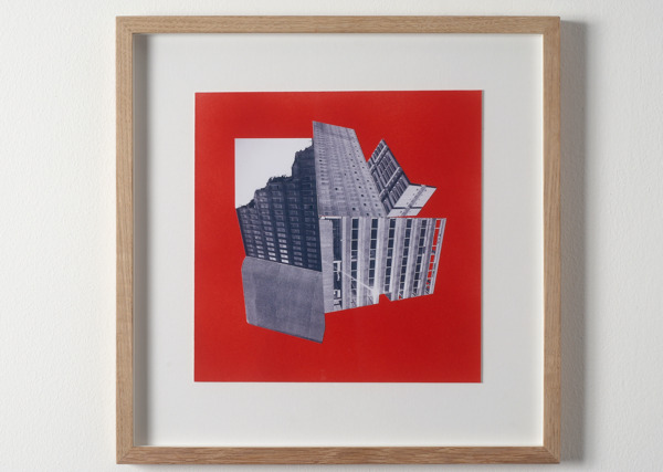 Toby Paterson, Bricolage (red), 2007, Inkjet print and enamel paint, 33 x 33 cm