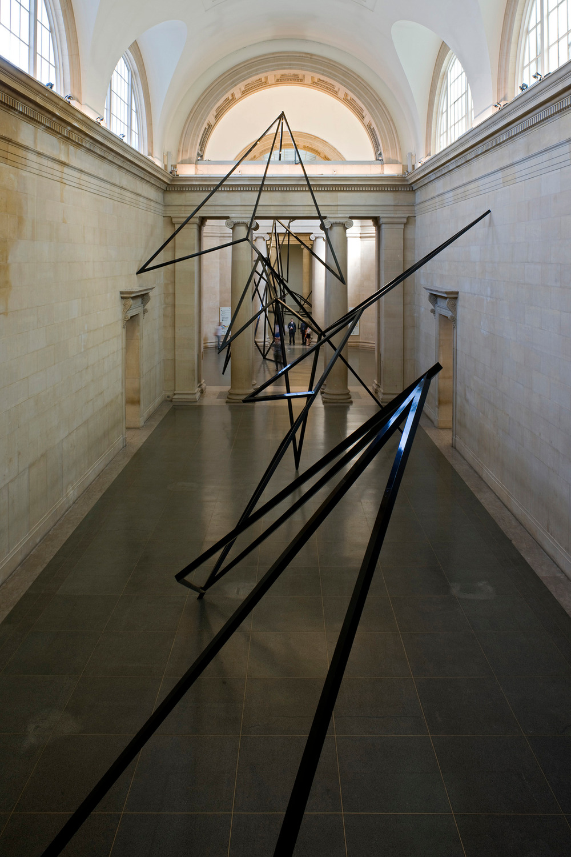 Eva Rothschild, Cold Corners, 2009, Aluminium box tubing, 1191 x 7377 x  996 cm, Installation view, Duveens Commission, Tate Britain, London, 2009