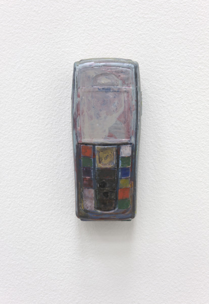 Tele and Data XI, 2010, Mobile Phone, Gouache, 10 x 4 x 2 cm