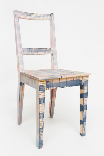 No Title, 2012, Chair, powder paint, 87 x 39.5 x 39 cm