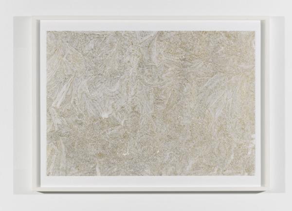 No Title, 2007, Goldleaf on paper, 55 x 79 cm