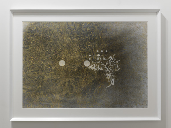 No Title, 2009, Gold leaf on paper, 115 x 86 x 4 cm