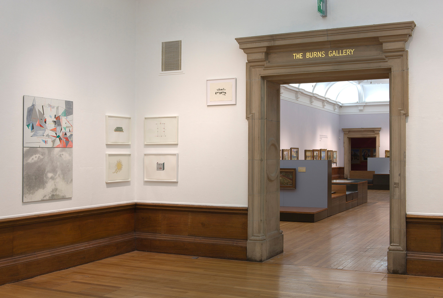 Installation view 'Works on Paper', Kelvingrove Art Gallery and Museum, Glasgow, 2012