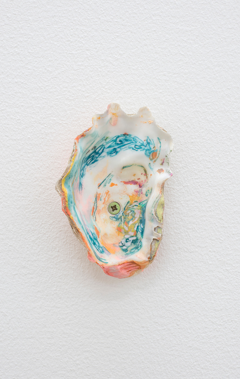 Sleepwalker, 2015, Acrylic and watercolour on shell, 8.5 x 5 x 3 cm