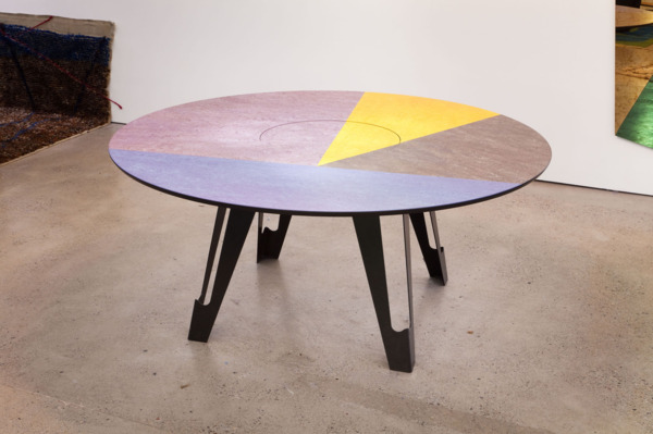 Fragmental Dining Table, 2013, Linoleum, high density board, powder coated steel legs, 75 x 170 x 170 cm