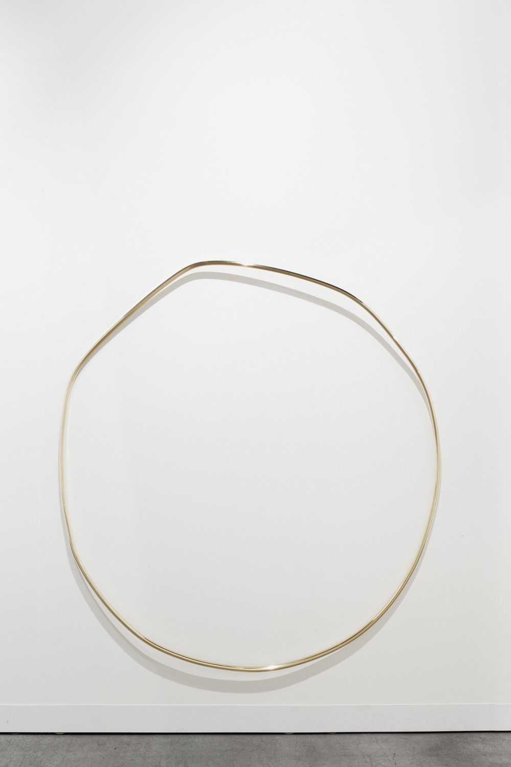 New Moon, 2013, Brass, 147 x 140 x 16 cm