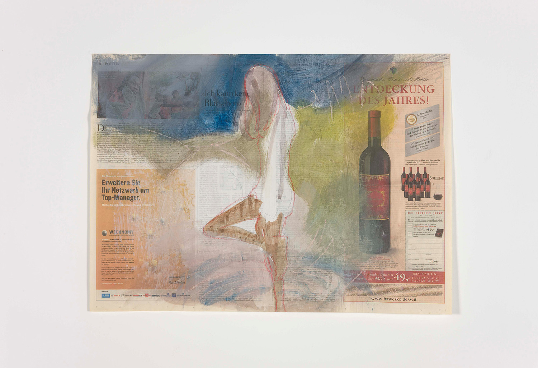 Untitled, 2010, Watercolour on newsprint, 79.5 x 57 cm
