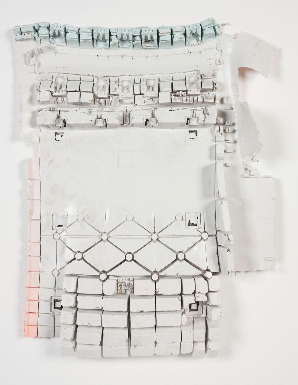 Dialta Cuts 8, 2014, Silicone rubber, pigment, 68 x 57 x 10 cm