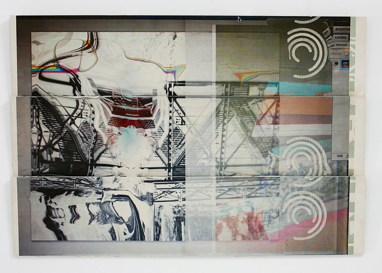 When a hunter feels alone, 2013, Toner and oil on jesmonite, 87 x 127 x 5 cm