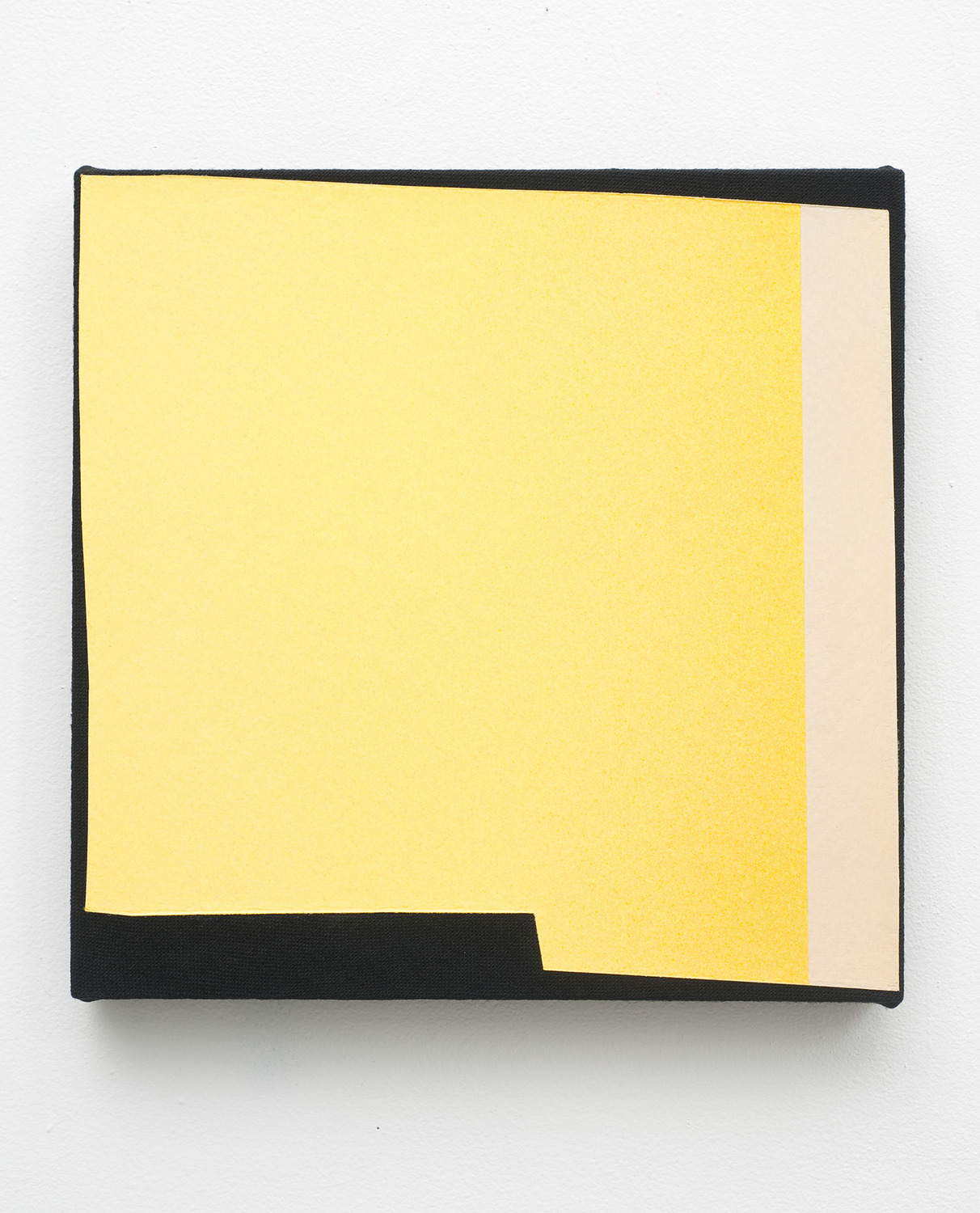 Magazine Painting (Yellow with Margin), 2011, Oil on dyed linen, 35.5 x 35.5 cm