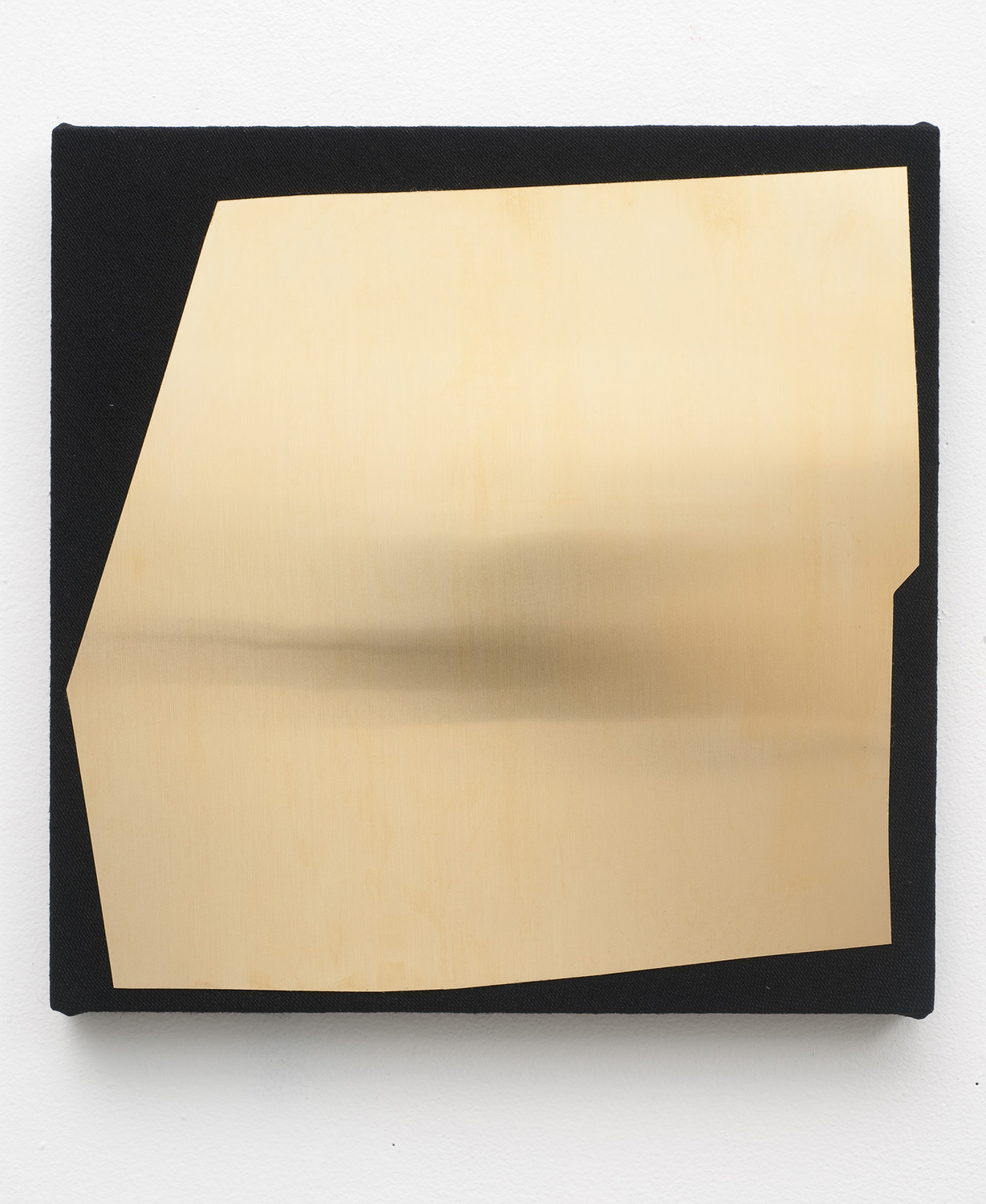 Brass No.1, 2011, Brass on dyed linen, 35.5 x 35.5 cm