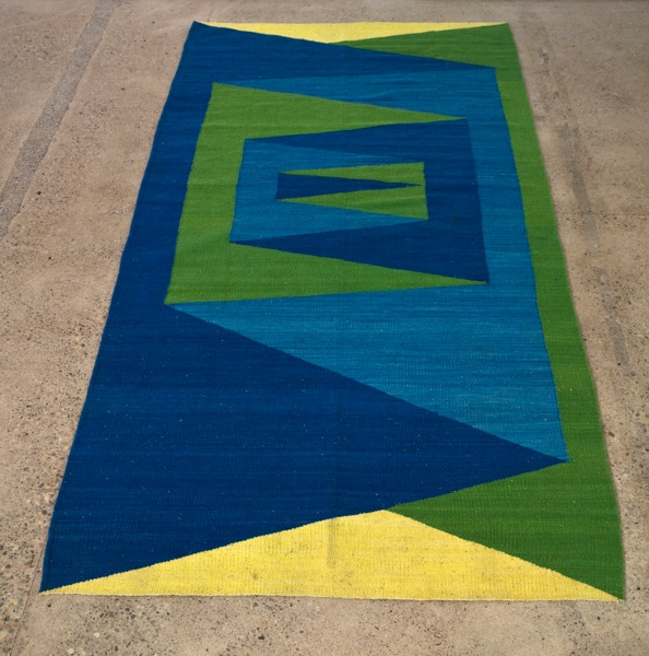 Folded While Woven, 2013, Woven wool carpet, 301 x 148 cm