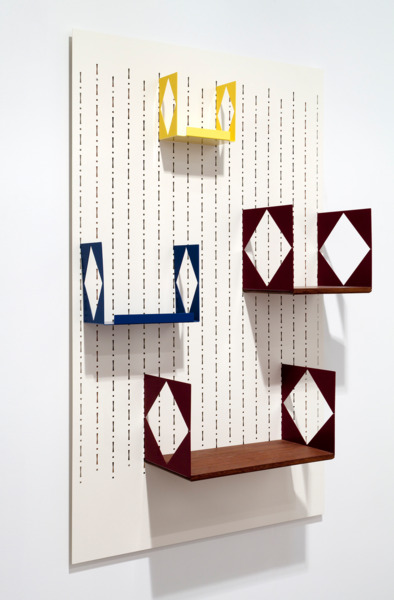 Book Show Case, 2010/2014, Powder coated laser cut steel, 90 x 148 x 5.75 cm