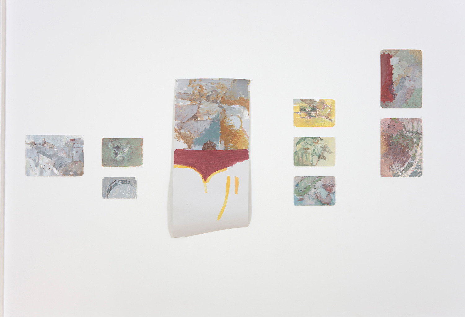 Motor & Untitled, 2011, Acrylic on paper, Dimensions variable
