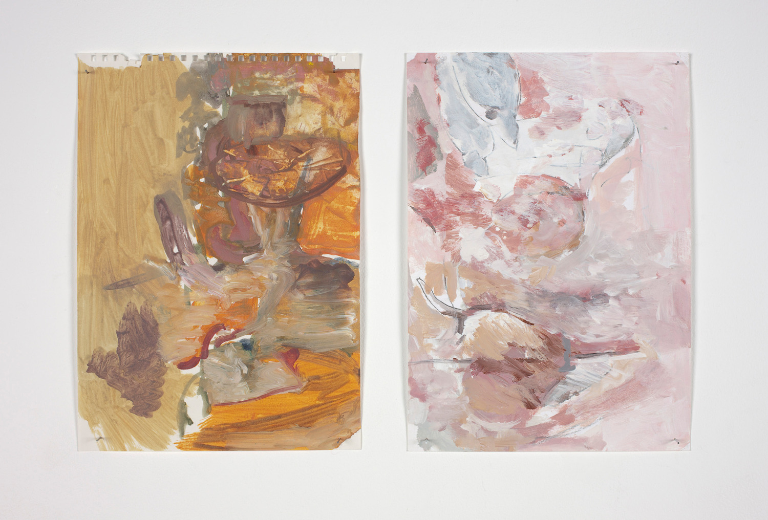 Cart, 2012, Acrylic on paper, 29.7 x 47.2 cm each