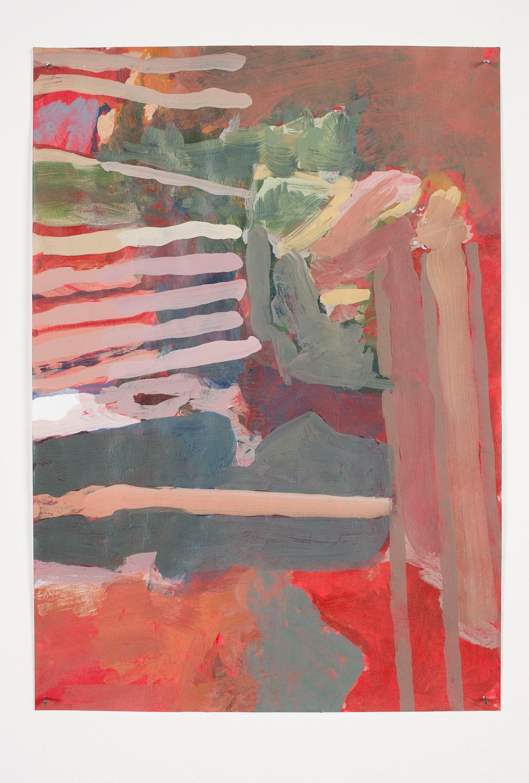 Drain, 2013, Acrylic on paper, 29.4 x 20.8 cm