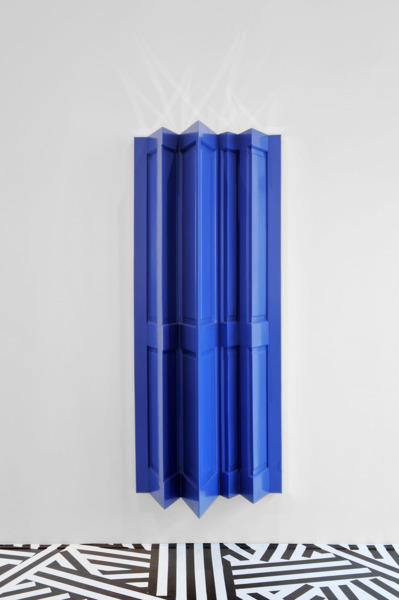 The Doors (Night Divides the Day), 2005, Wooden doors, mirrors, gloss paint, 199 x 80.5 x 42.5 cm