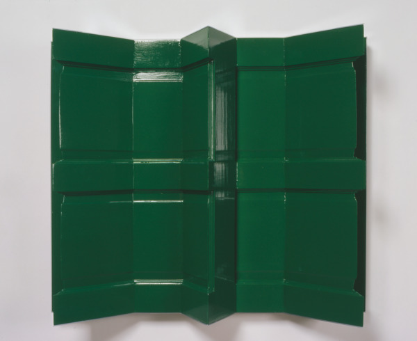 Durutti Column, 2006, Wooden door, gloss paint, mirror strips, 84 x 99 x 19 cm