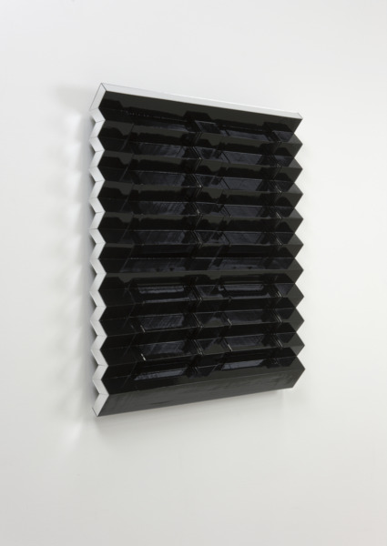 Radiator (Black), 2009, Doors, Mirror, Gloss Paint, 97 x 77 x 10 cm