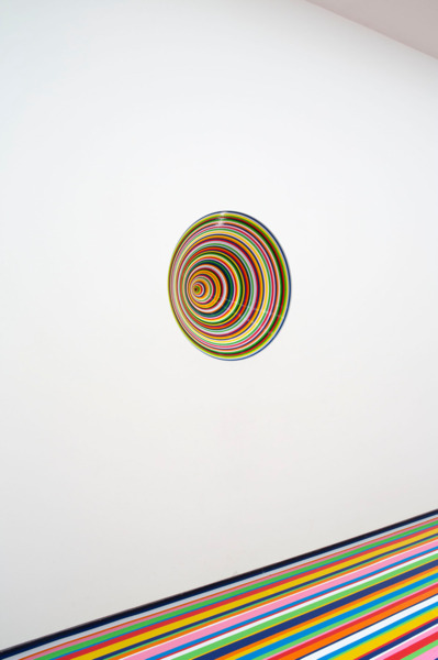 Vortex (This Perfect day), 2013, MDF, household paint, 85 cm diameter x 40 cm