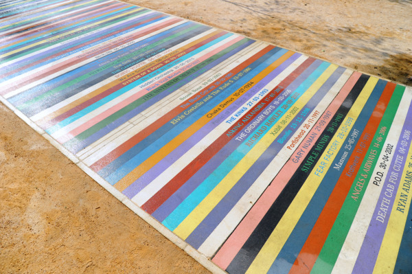 Untitled, 2014, Coloured concrete, 103 x 3 m, Public artwork, Barrowland Park, Glasgow