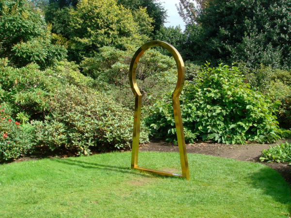 Secret Affair (Gold), 2008, Stainless steel, 215 x 113.4 x 8 cm