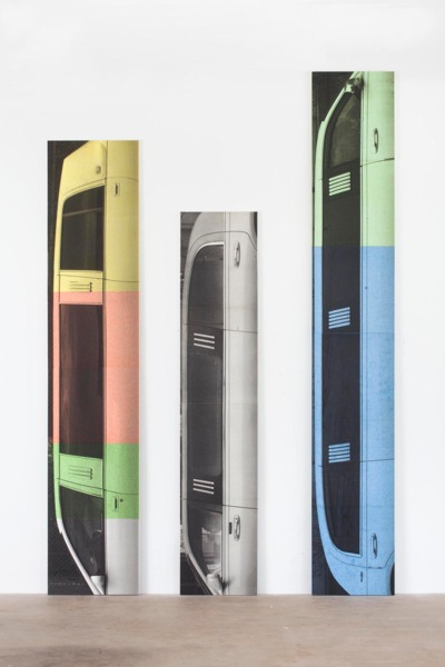 James, 2015 (right), Adelson II, 2014 (centre), and George II, 2014 (right), Inkjet print on cellulose sponge, Dimensions variable
