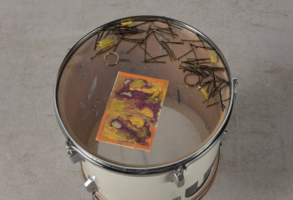 Upsetter Makes You Better, 2011, Mixed media, Drum 32.5 cm diameter x 36 cm height; Stand 30.5 cm diameter x 30.5 cm height