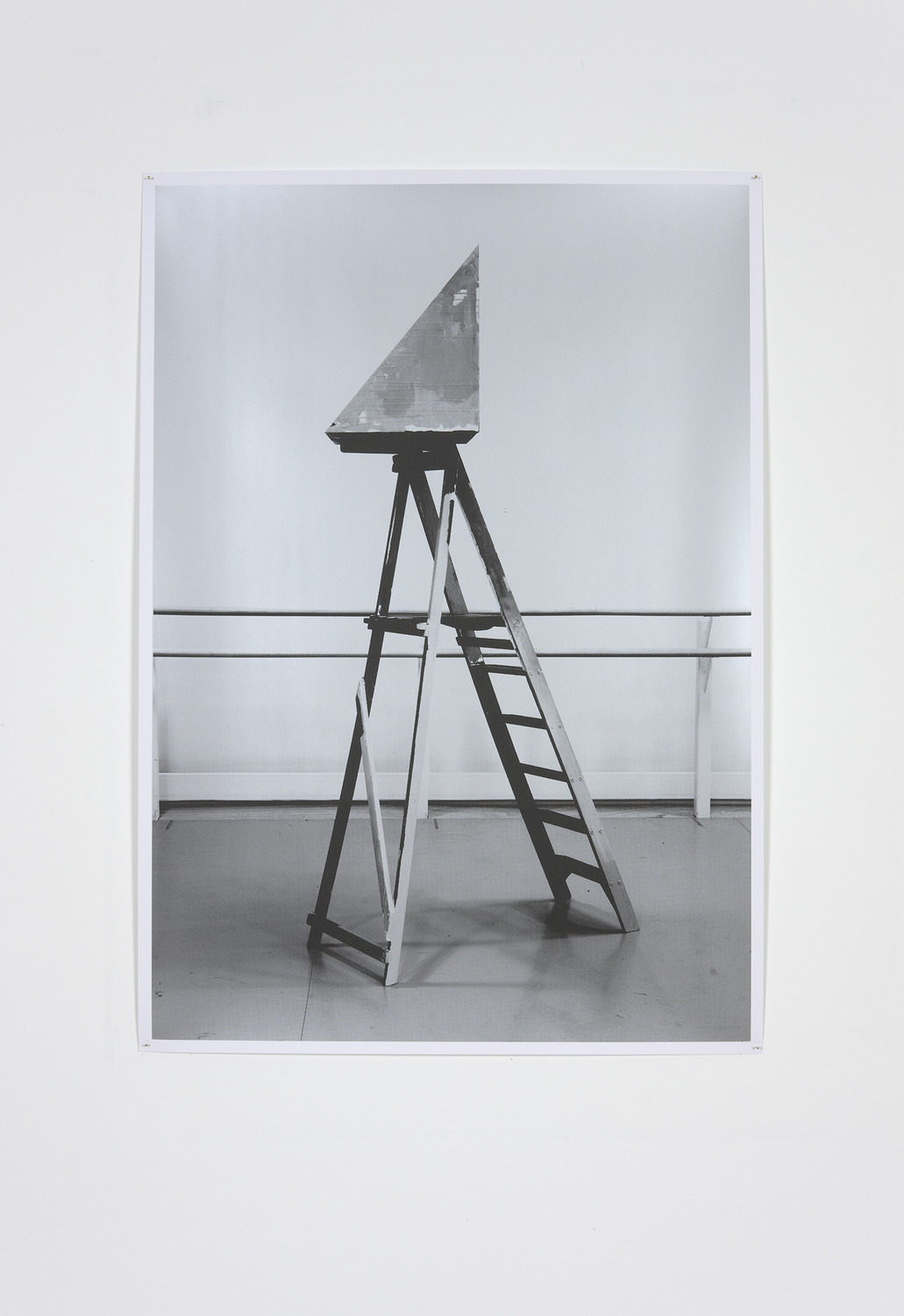 The Meaning of Return (Mirror) I, 2010, Unique Screenprint on Paper, 102 x 72 cm