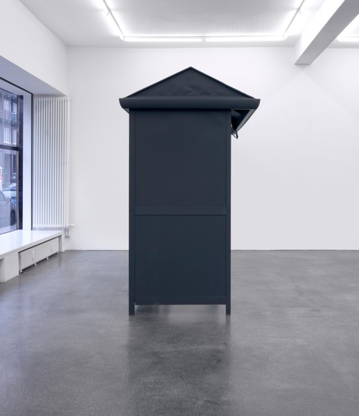 An Anxious Repose, 2012, Found Object, Blackboard Paint, 258 x 330 x 144 cm