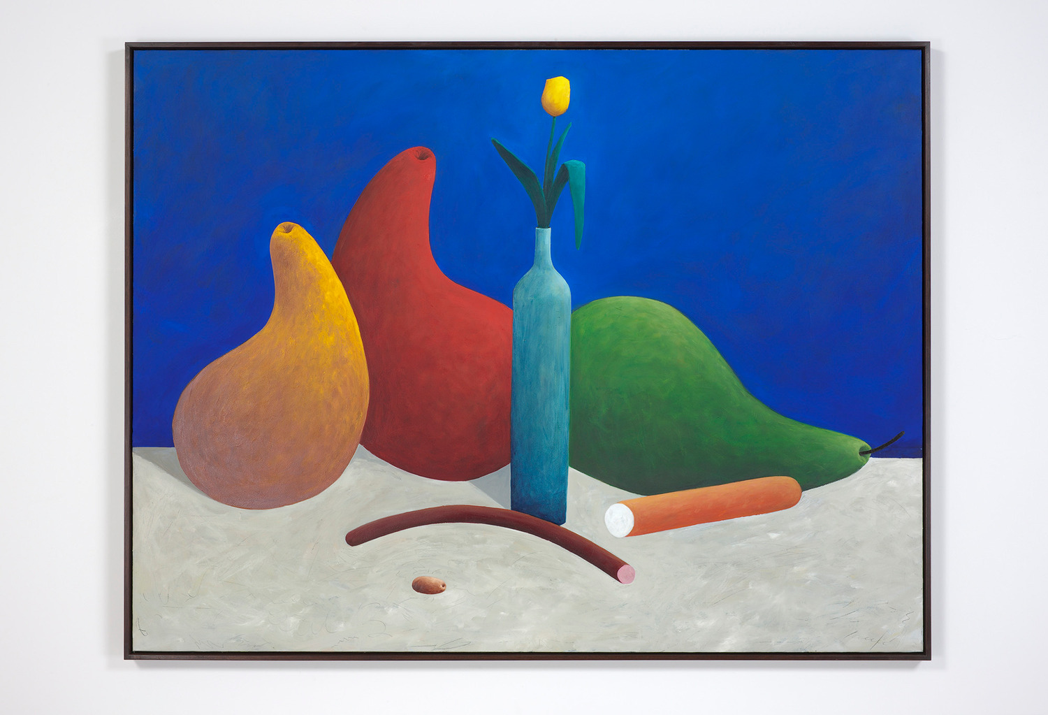 Still life with an olive, 2012-2013, Oil on canvas, 143 x 186.5 x 5.5 cm