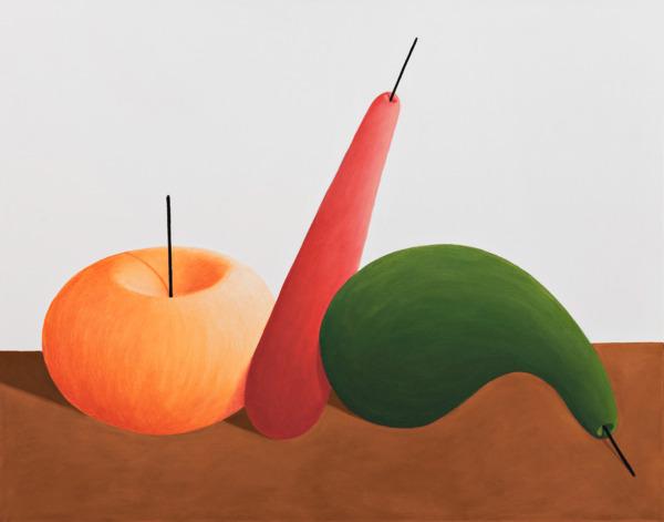 Still life, 2015, Pastel on canvas, 115.5 x 145.6 x 7 cm
